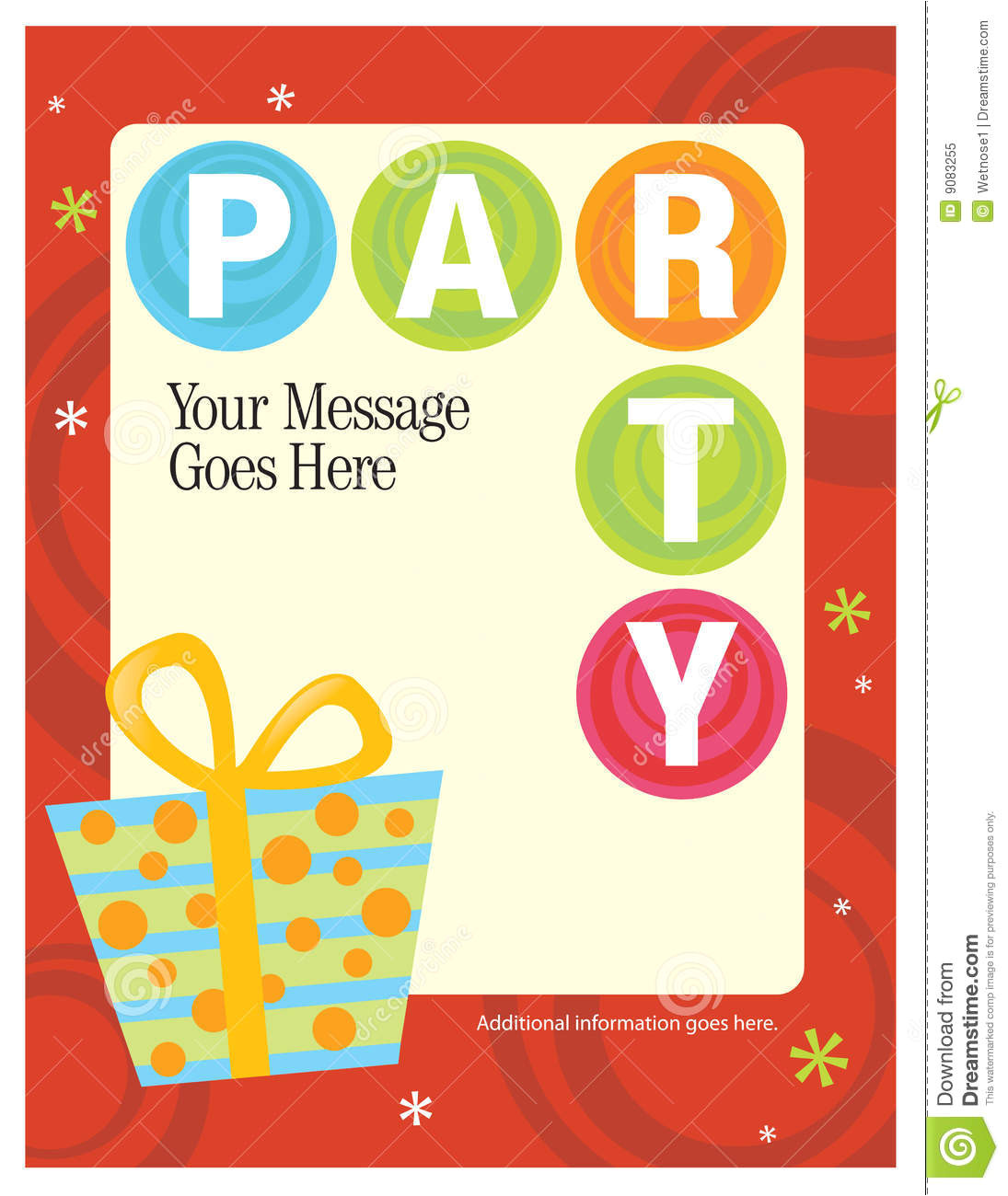 royalty free stock photo 8 5x11 party flyer poster template image9083255