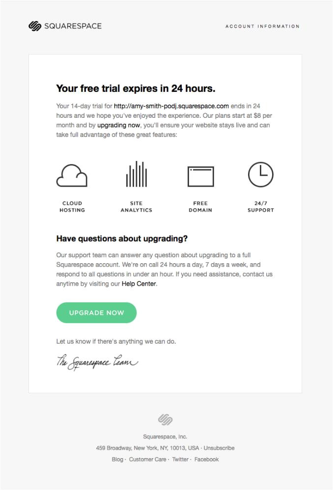 activation email examples