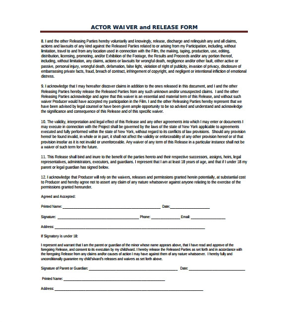 film release form