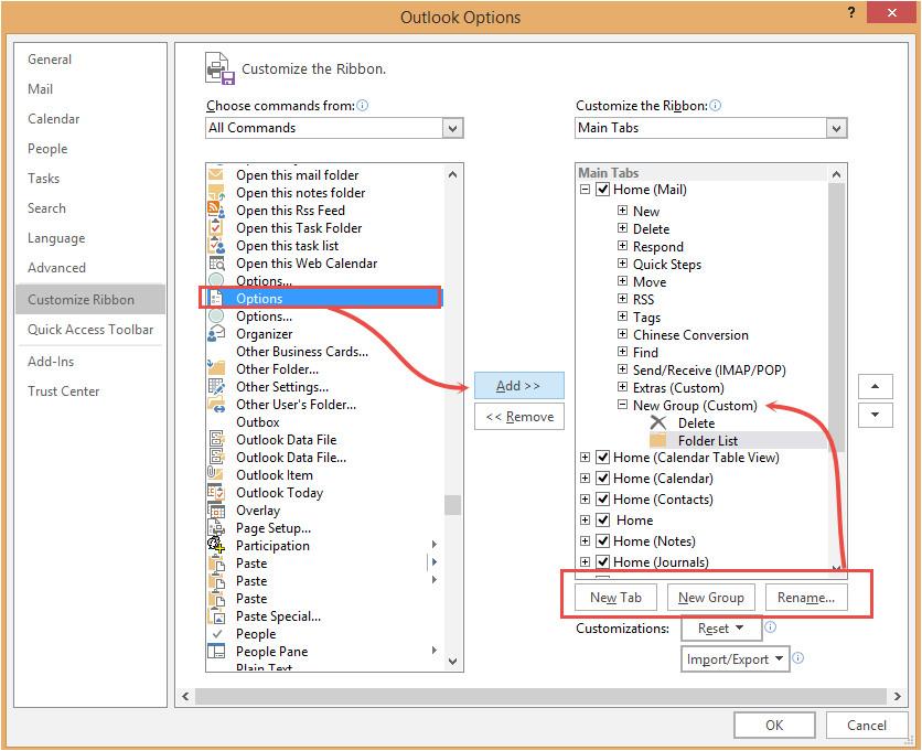 customize toolbar ribbon or qat