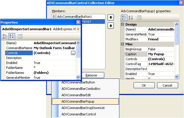 outlook addins commandbars