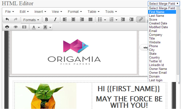 customizable email templates