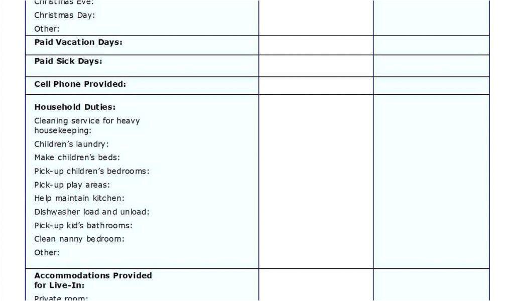 allowance contract template