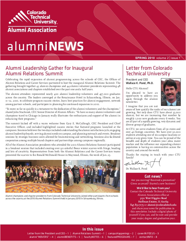 ctu alumni newsletterspring2010