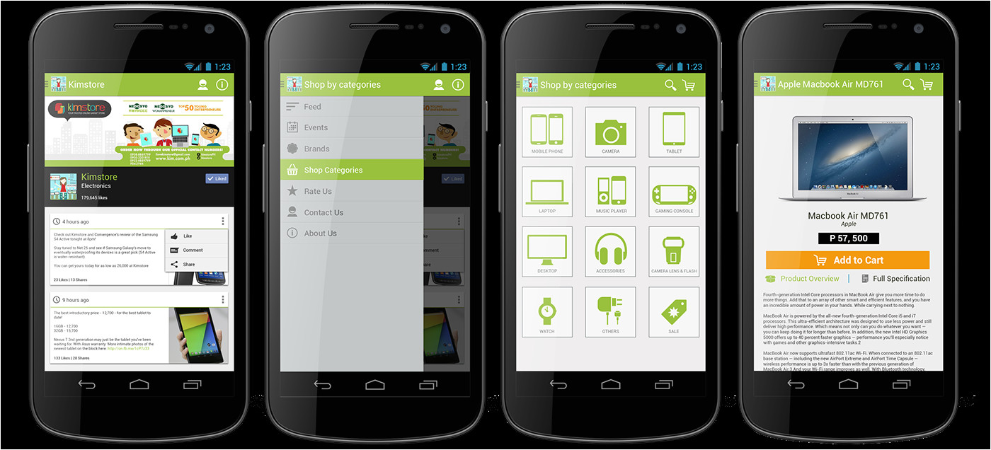 android app ecommerce template