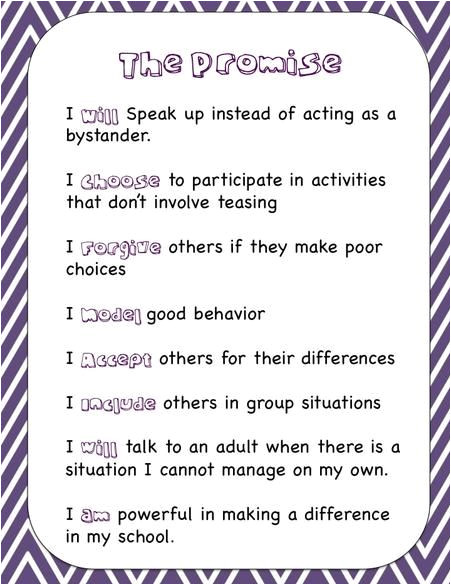 Anti Bullying Contract Template Anti Bully Poems Google Search Shared Reading