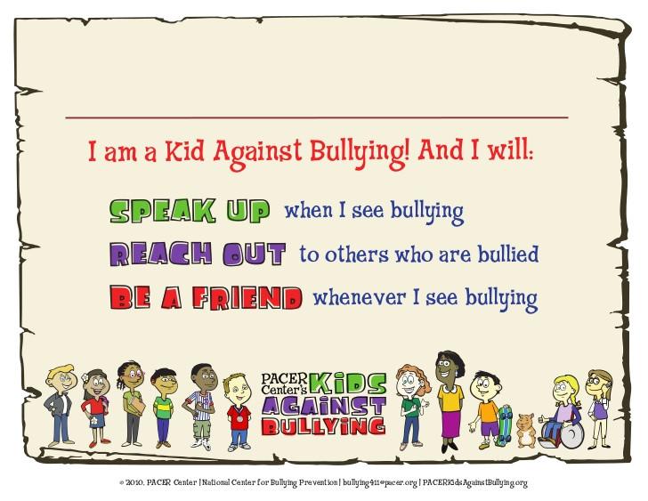 anti bullying certificate