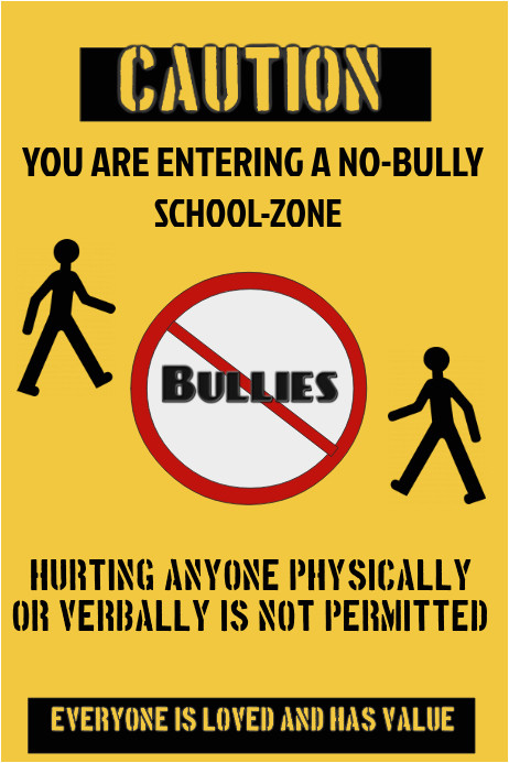 anti bully flyer template