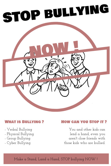 Anti Bullying Flyer Template Stop Bullying now Template Postermywall
