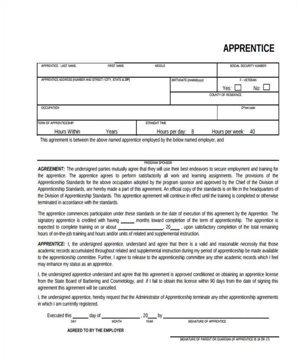 contract registration form
