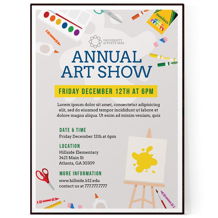 school art show flyer template