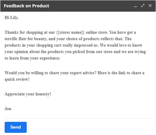 request review templates