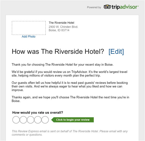 can respond tripadvisor reviews