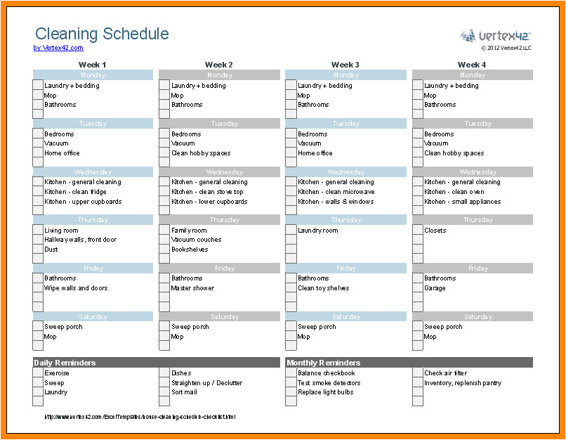 12 13 cleaning checklist printables