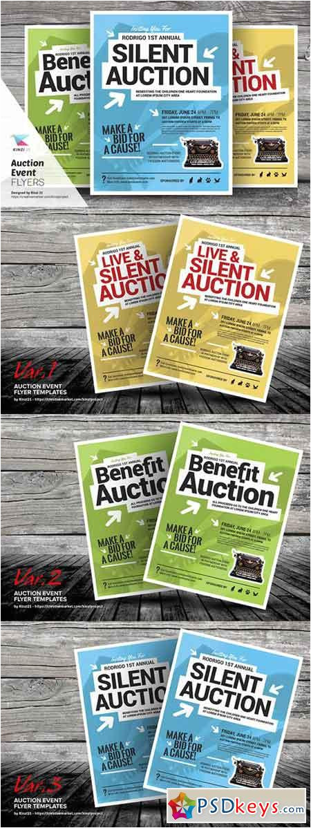 39047 auction event flyer templates 692236