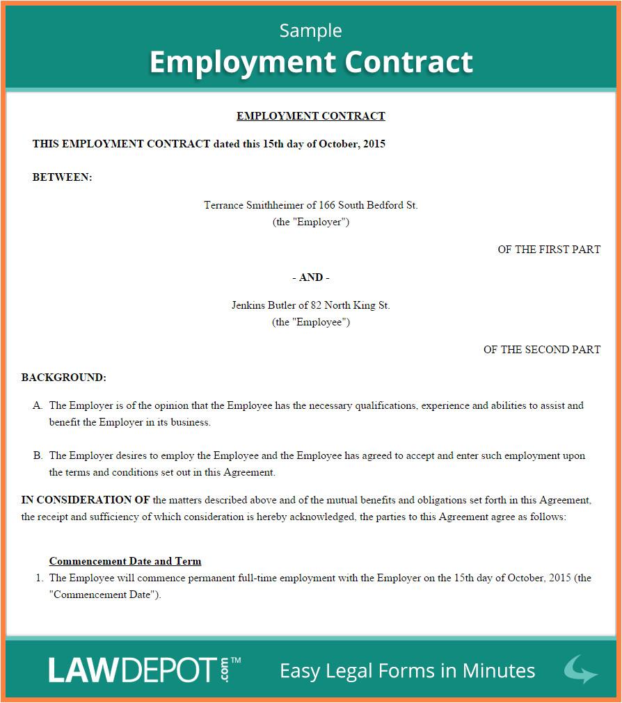 Australian Employment Contract Template 6 Employment Agreement Template Australia Purchase
