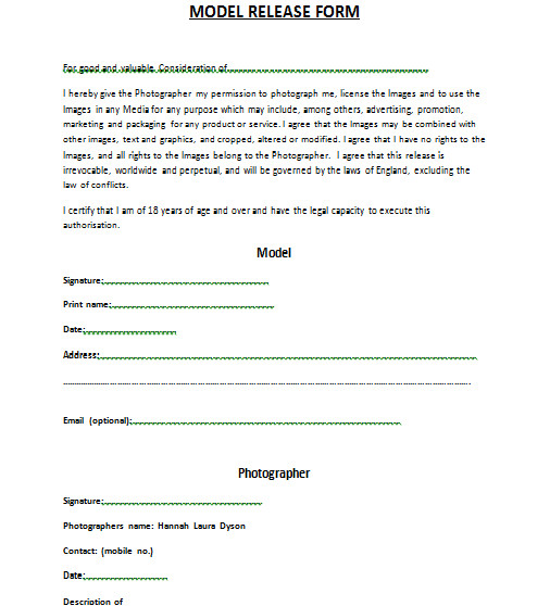 model release forms