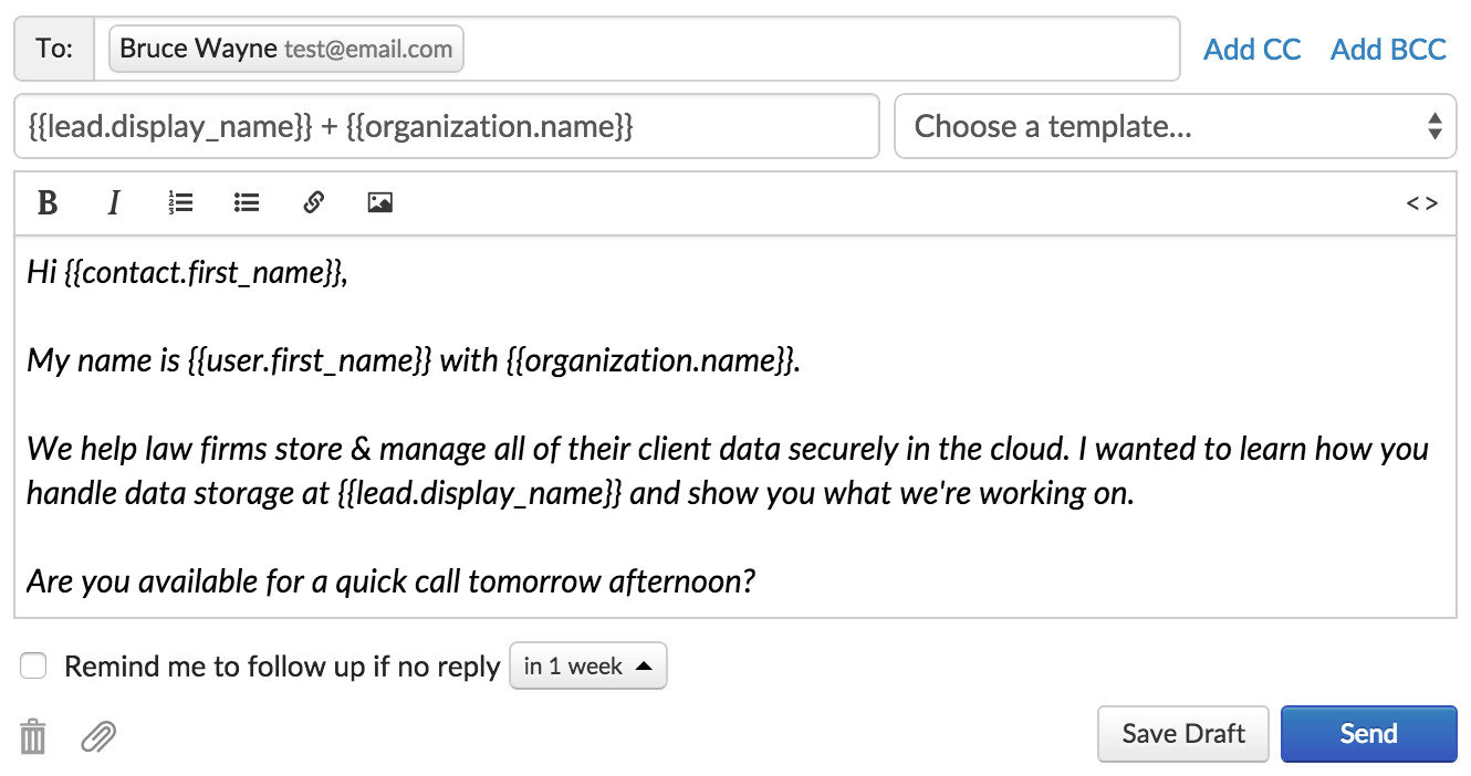 8 crm ready sales email templates