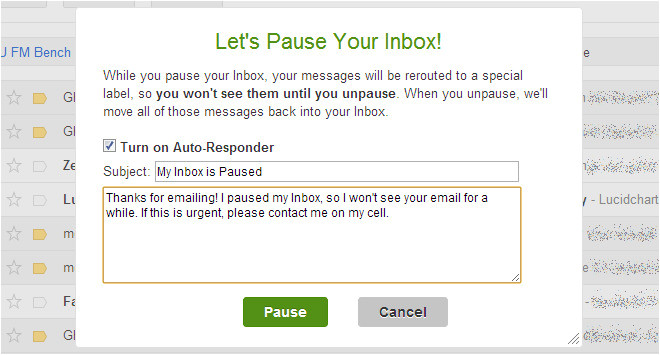 automated email response message sample