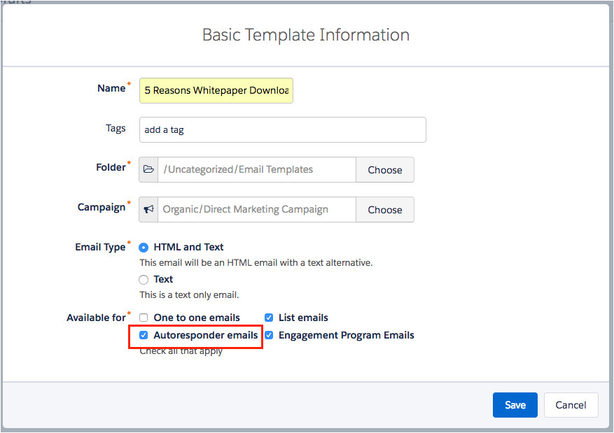 how to create a form with email autoresponder in pardot