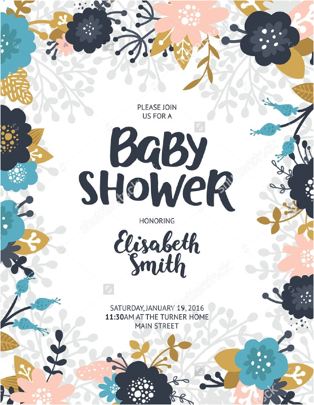 Baby Shower Flyer Template 16 Baby Shower Flyer Templates Printable Psd Ai