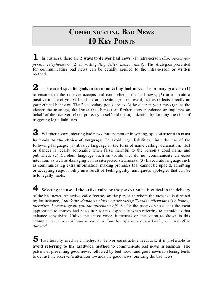 10 key points for delivering bad news 2459021