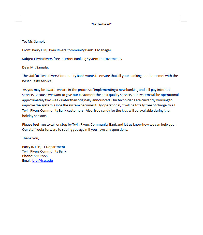 Bad News Email Template Writing Samples Barry Ellis Interactive Resume