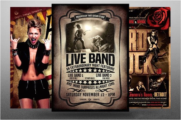 Band Flyer Templates Photoshop 24 Band Flyer Templates Apple Pages Ms Word Publisher