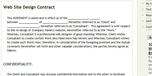 logo design contract templates