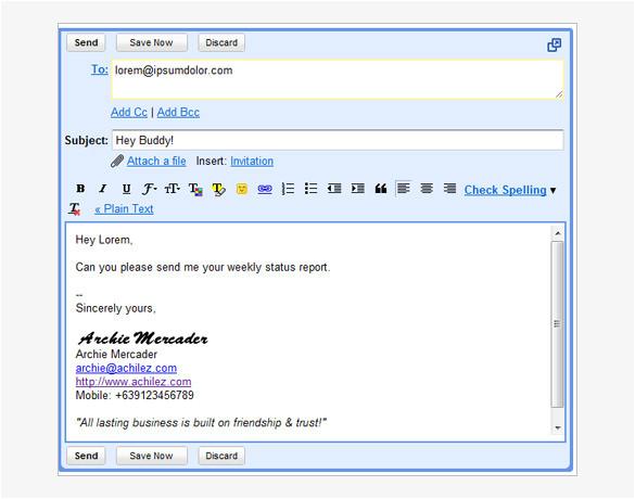 gmail signature