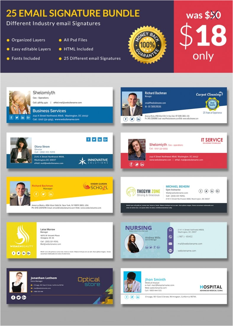 corporate email signature template