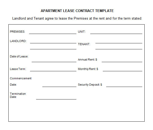 lease contract template