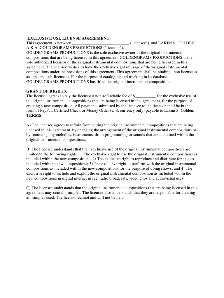 beat lease agreement 2016