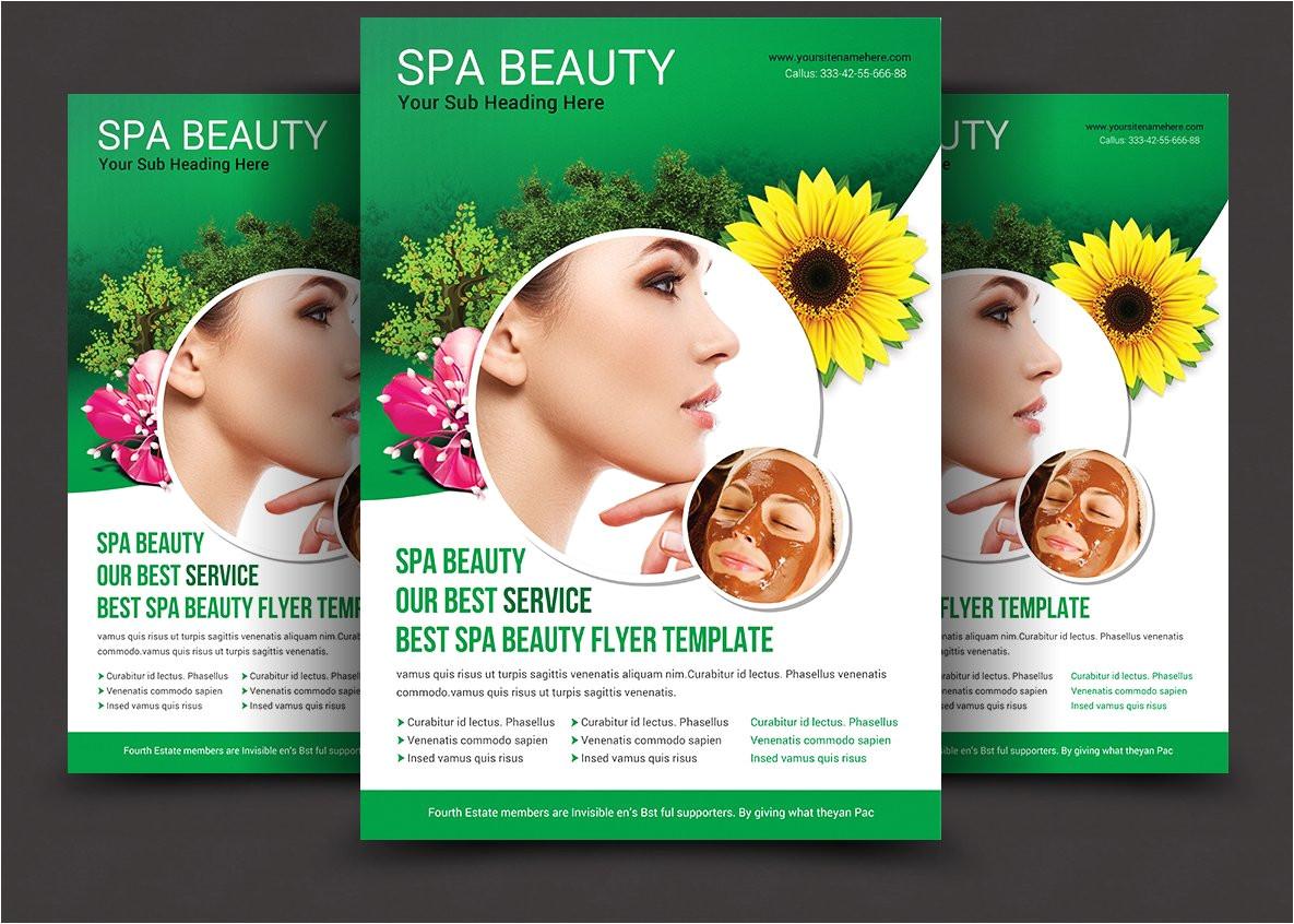 1502002 spa beauty flyer template