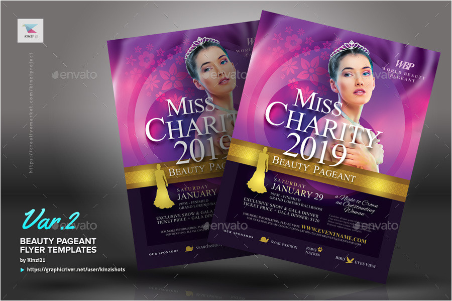 Beauty Pageant Flyer Templates Beauty Pageant Flyer Templates by Kinzishots Graphicriver