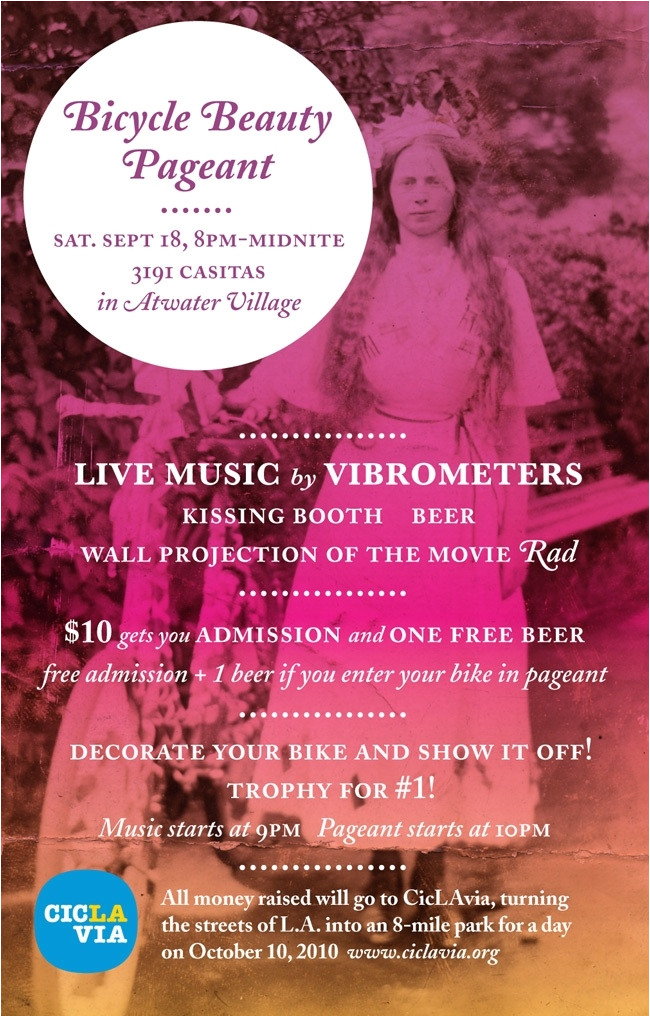 benefit bicycle beauty pageant september 19th