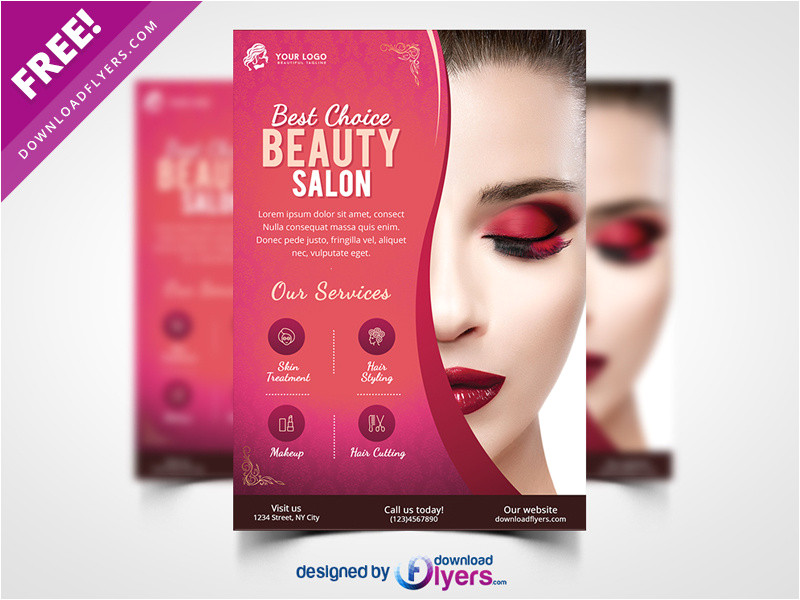 3184713 beauty salon flyer template free psd