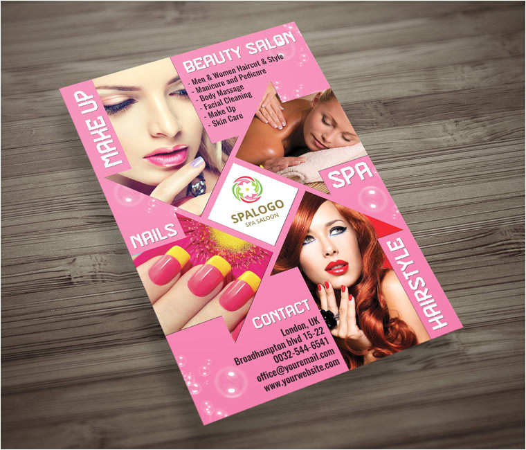 hair and beauty salon flyer psd template