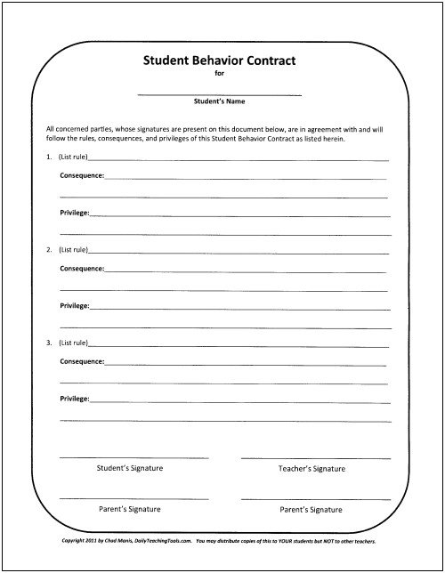 Behavior Contract Template Elementary Classroom Behavior Management A Comprehensive Set Of