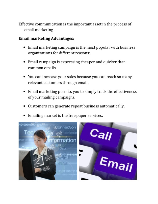 email marketing campaigns advantages