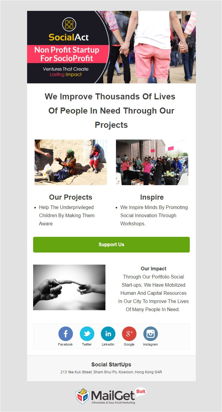 best startup email templates
