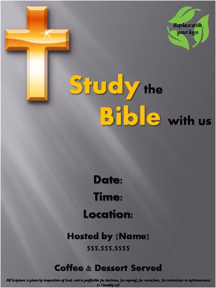 post free printable bible study flyer 242165
