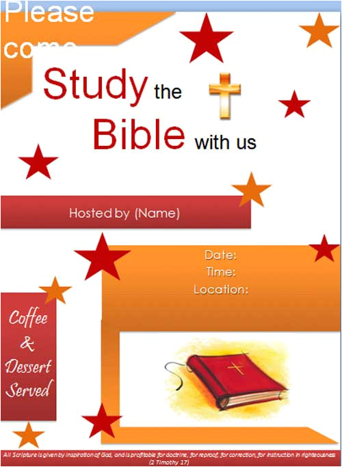 bible study flyer template
