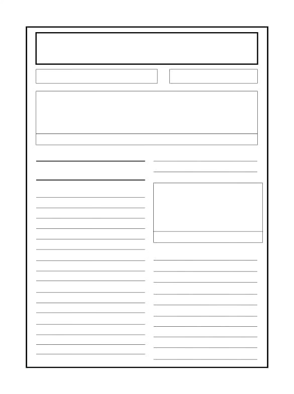 printable blank email template