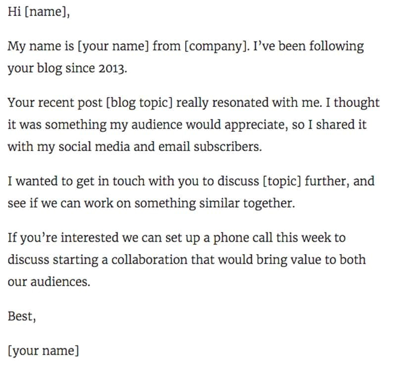 Blogger Collaboration Email Template 11 Outstanding Influencer Outreach Email Templates