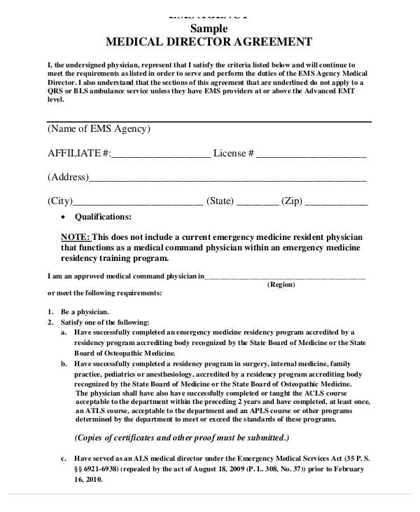 director agreement template