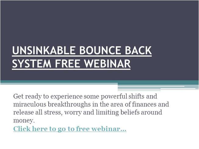 soniaricotti 1983225 unsinkable bounce back system free webinar