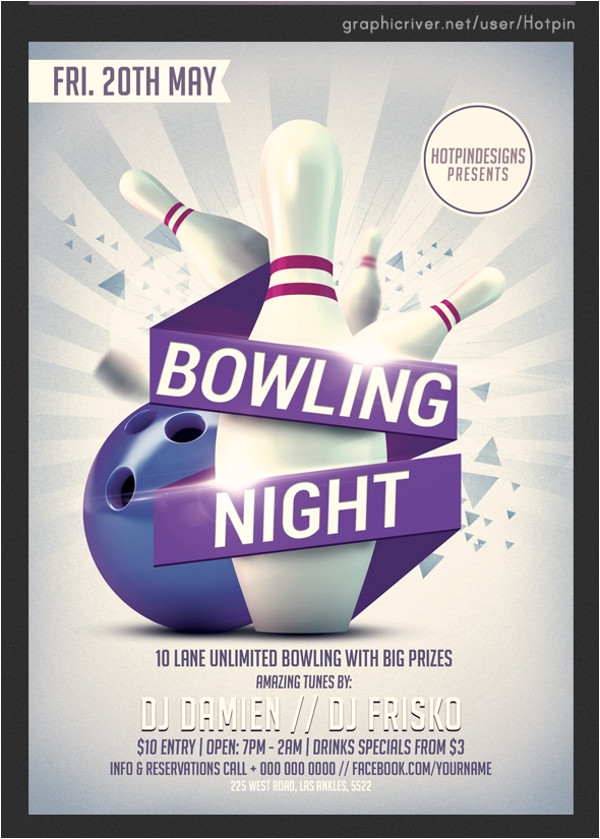 Bowling Flyers Templates Free 24 Bowling Flyer Templates Vector Eps Psd