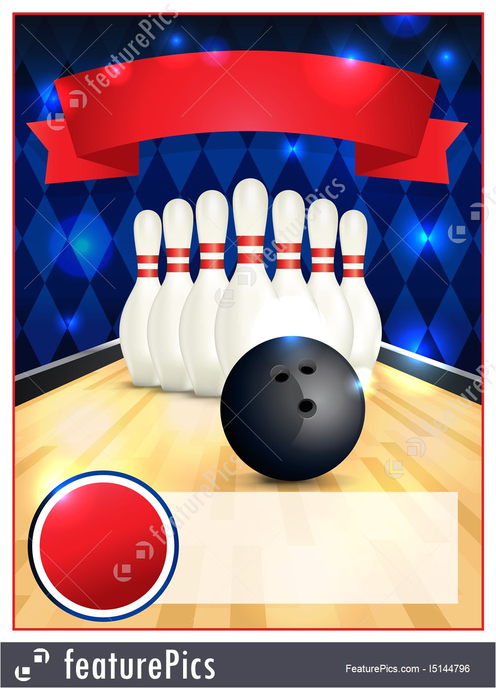 bowling flyer template 4144796