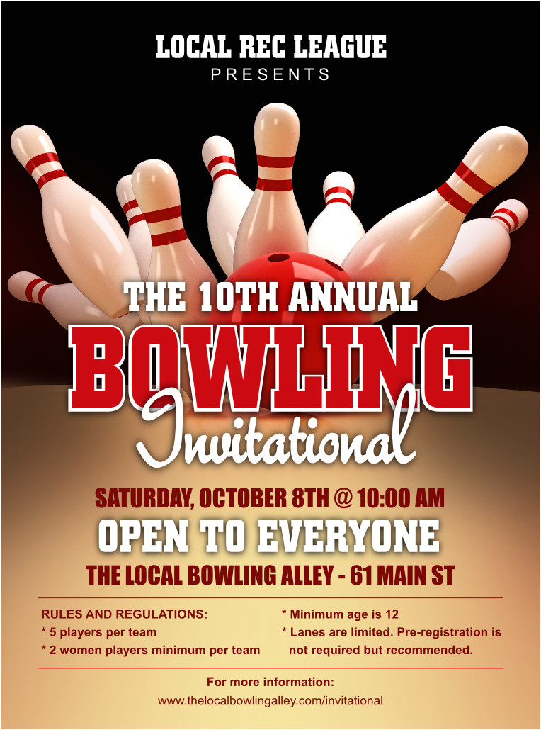 bowling league flyer